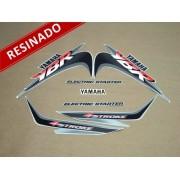 Kit Adesivos Ybr 125 2001 Prata Resinado