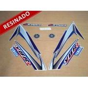 Kit Adesivos Ybr 125 2004 Azul Resinado