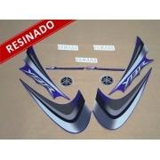 Kit Adesivos Ybr 125 2008 Azul Resinado