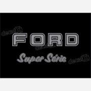 Kit Emblema Adesivo Ford F1000 Super Série Traseira Em Prata