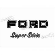 Kit Emblema Adesivo Ford F1000 Super Série Traseira Em Preto