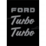 Kit Emblema Adesivo Ford F1000 Turbo Em Prata