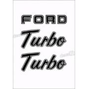 Kit Emblema Adesivo Ford F1000 Turbo Em Preto
