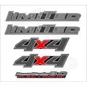 Kit Emblema Adesivo Ford Ranger Limited 3.0 4x4 2008 Clara