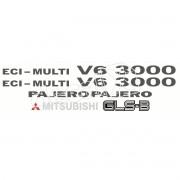 Kit Emblema Adesivo Mitsubishi Pajero 3000 Gls-b V6003