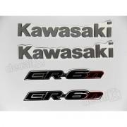 Kit Emblema Adesivo Resinado Kawasaki Er-6n re42