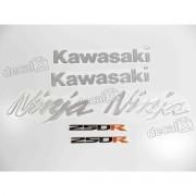 Kit Emblema Adesivo Resinado Kawasaki Ninja 250r Re56
