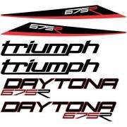 Kit Emblema Adesivo Triumph Daytona 675r 2014 Tr675r