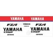 Kit Emblema Adesivo Yamaha Fzr 1000 1991 Branca Hdfzr10004