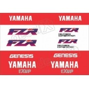Kit Emblema Adesivo Yamaha Fzr 1000 1993 Branca Hdfzr10005