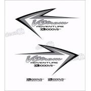 Kit Jogo Adesivo Suzuki Vstrom Dl1000vs Adventure Vt025