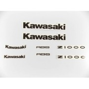 Kit Jogo Emblema Adesivo Kawasaki Z1000 02
