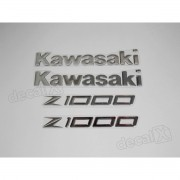 Kit Jogo Emblema Adesivo Resinado Kawasaki Z1000 re27