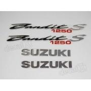 Kit Jogo Emblema Adesivo Resinado Suzuki Bandit 1250s Re14