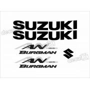 Kit Jogo Emblema Adesivo Suzuki Burgman An 125 Bgm01