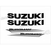 Kit Jogo Emblema Adesivo Suzuki Burgman Bgm03