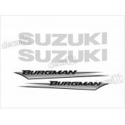 Kit Jogo Emblema Adesivo Suzuki Burgman Bgm04