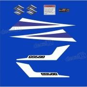 Kit Jogo Emblema Adesivo Suzuki Gs500 Azul Gs506