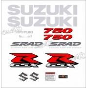 Kit Jogo Emblema Adesivo Suzuki Gsxr Srad 750 Cr08