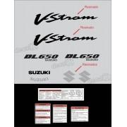 Kit Jogo Faixa Adesivo Resinado Suzuki Vstrom Dl650 Prata