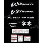 Kit Jogo Faixa Adesivo Suzuki Vstrom Dl650 Preta