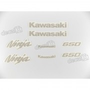 Kit Jogo Faixa Emblema Adesivo Kawasaki Ninja 650 2009
