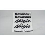 Kit Jogo Faixa Emblema Adesivo Kawasaki Ninja 650 2009 R09