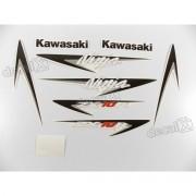 Kit Jogo Faixa Emblema Adesivo Kawasaki NINJA ZX-10r 2007