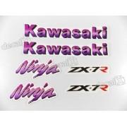 Kit Jogo Faixa Emblema Adesivo Kawasaki Ninja Zx-7 1993