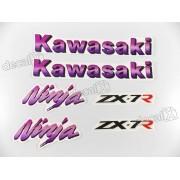 Kit Jogo Faixa Emblema Adesivo Kawasaki Ninja Zx-7 1994