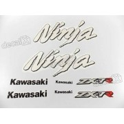 Kit Jogo Faixa Emblema Adesivo Kawasaki Ninja Zx-7 1997