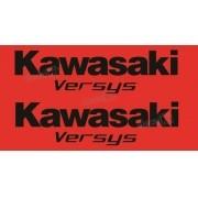Kit Jogo Faixa Emblema Adesivo Kawasaki Versys 2008