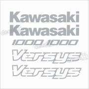 Kit Jogo Faixa Emblema Adesivo Kawasaki Versys Vrs14