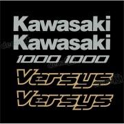 Kit Jogo Faixa Emblema Adesivo Kawasaki Versys Vrs16