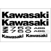 Kit Jogo Faixa Emblema Adesivo Kawasaki Z750 2010 Verde
