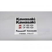 Kit Jogo Faixa Emblema Adesivo Kawasaki Z750