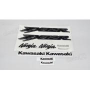 Kit Jogo Faixa Emblema Adesivo Kawasaki Zx-12r