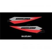 Kit Jogo Faixa Emblema Adesivo Rabeta Suzuki Gs500 Gs513