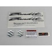 Kit Jogo Faixa Emblema Adesivo Suzuki Bandit 1250 2007 Vinho