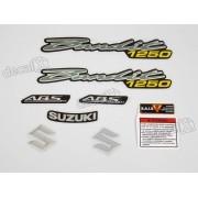 Kit Jogo Faixa Emblema Adesivo Suzuki Bandit 1250 2009