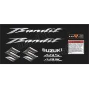 Kit Jogo Faixa Emblema Adesivo Suzuki Bandit 600n 2013 Preta