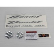 Kit Jogo Faixa Emblema Adesivo Suzuki Bandit 650n 2011 Prata