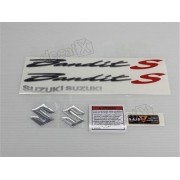 Kit Jogo Faixa Emblema Adesivo Suzuki Bandit 650s 2007 Preta