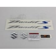 Kit Jogo Faixa Emblema Adesivo Suzuki Bandit 650s 2012 Prata