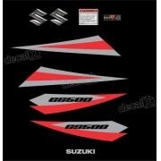 Kit Jogo Faixa Emblema Adesivo Suzuki Gs500 Preta Gs503