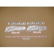 Kit Jogo Faixa Emblema Adesivo Suzuki Tl1000s 1997 Preta
