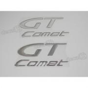Par Adesivos Kasinski Comet Gt Resinado Cromado 15x6,5 Cms