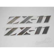 Par Adesivos Kawasaki Zx-11 Resinado Cromado 24x4 Cms Re10