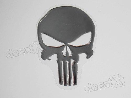 Adesivo De Chao Madeira ~ Adesivo Caveira Justiceiro Punisher Resinado Cromado Re4 Adesivos para motos& Adesivos