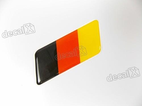 Emblema Adesivo Resinado Volkswagen Bandeira Alemanha Rs01